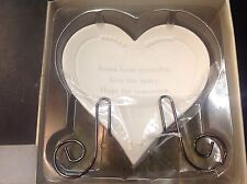 Hope: porcelain heart with stand Angelica Seasons of Cannon Falls