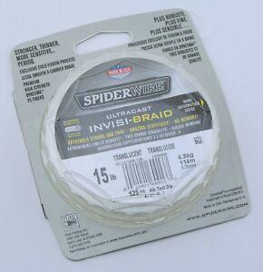 SpiderWire Ultracast Invisi-Braid 15 lb 125 yd InvisiBraid Line Translucent