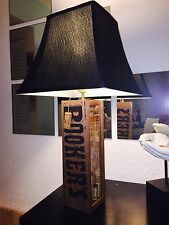 Table Lamp BOURBON BOOKER'S Theme black Square Bell shade