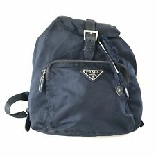 PRADA VELA B4650F nylon backpack navy used 3039-10A4