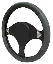 GREY/BLACK/GRAY LEATHER Steering Wheel Cover 100% Leather M17/5