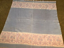 "Vintage Camp Blanket BEACON Style Reversible  66"" X 72"" Baby Blue Pink Lavender"