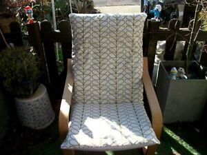 Handmade COVER for IKEA ALME poang chair @ ORLA KIELY S GREEN LINEAR STEMS
