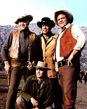 Bonanza Lorne Greene Dan Blocker Pernell Roberts Michael Landon 8x10 photo S8211