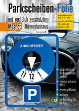Parkscheibe Aufkleber Folie Sticker Etikett selbstklebend Variante B