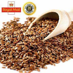 Brown 100% Organic Flax Seeds/ Linseed Siemie Lniane A-Grade Free UK P&P 50g-2Kg