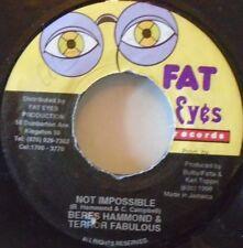 "BERES HAMMOND & TERROR FABULOUS - Not Impossible ~ 7"" Single JA PRESS"