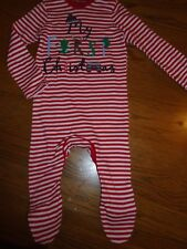 BNWT baby unisex 1st Christmas outfit/one piece/romper. 3-6 mths. F&F    (2/2)