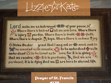 Lizzie Kate Prayer of St. Francis #178 - Counted Cross Stitch Pattern