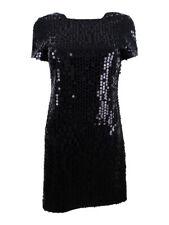 Calvin Klein Women's Sequined Sheath Dress (2, Black)
