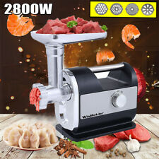 2800W Heavy Duty Commercial Electric Meat Grinder Sausage Maker Stuffer w/Handle