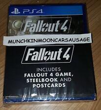 NUOVO SIGILLATO Fallout 4 con Steelbook & CARTOLINE PS4 PlayStation 4 GRATIS UK P & P