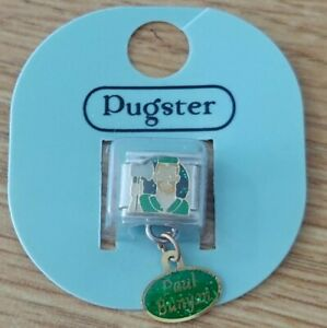 NEW ~ Pugster ~ Paul Bunyan ~ 9mm DANGLE stainless steel Italian link charm