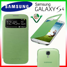 Custodia originale Samsung per Galaxy S4 SIV i9500 i9500 S-View cover VERDE