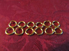 Lot of 12 Gold Plated Jewelry Jump Ring Connector for Bracelet Necklace Charms
