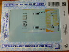 Microscale Decal N #60-530  NP -- Passenger Service F Unit Diesels 1950s