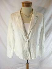 Lightweight Size 10 12  White Linen TOOT Designer Jacket $69. Great for Summer!