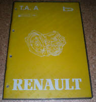 Workshop Manual Renault Automatic Transmission Type AR4 Stand 1988