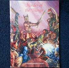1991 Hordes Of The Things Wargames Research Group Fantasy Army List WRG HOTT D&D