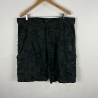 Dexter Mens Cargo Shorts 38 Black Pockets Camouflage