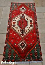 Vintage PERSIAN RUG Carpet Handwoven Authentic 100% Wool 230 x 100cm 9690