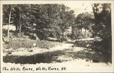 Wells River Vt River Scene c1915 Real Photo Postcard