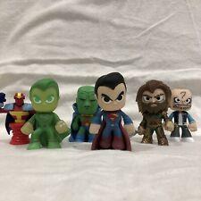 "FUNKO POP/DC Comics Lot of 5 Mystery Mini 3"" SUPERMAN, AQUAMAN, MANHUNTER, loose"