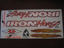 IRON Horse Manitou X- Vert Sticker White, Orange & Black.