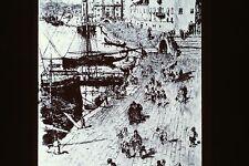 FRANK DUVENECK- THE RIVA DEGLI SCHIAVONI ETCHING 1880 35MM ART SLIDE