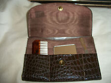 VINTAGE ENGLAND SNAP CASE PURSE VANITY SET COMB BRUSH MIRROR NAIL FILE