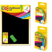 Kids Blackboard Chalkboard A4 Eraser Chalk Pavement Chalks White Coloured