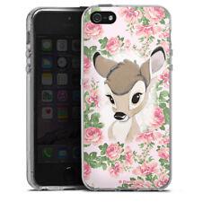 Apple iPhone 5 Silikon Hülle Case - Bambi Flower Child