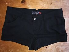NWT G by GUESS Herringbone Jet Black Solid Short Shorts Size 29 $39.50 B1
