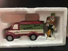 Dept 56 Snow Village ~ Village News Delivery ~ Mint In Box