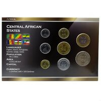 CENTRAL AFRICAN STATES (BEAC) 8 COINS FULL SET: 1, 2, 5, 10, 25, 50, 100, 500 FR