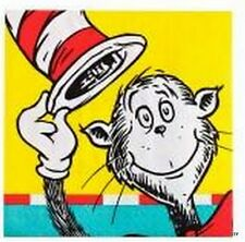 Cat in the Hat Dr Seuss Party Supplies Birthday Decoration Napkins Cake Dessert