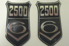 PAIR FORD CAPRI MK 1 GRANADA MK 1 2500V6 BADGE INSERTS- GENUINE- FORD-FL002