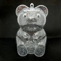 Candy Container Christmas Ornament Vintage Teddy Bear Figural Hard Plastic