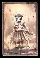 GUS FINK art ORIGINAL painting antique outsider lowbrow horror folk SCARE BEAR