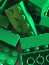 Lego Bulk lot of 50 New 2x4 Green Blocks Bricks 2 X 4