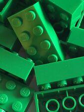 Lego 3001 New 2x4 Green Bricks Blocks Buildings Wall Lot Of 25pcs