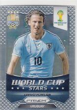 2014 Panini Prizm World Cup Stars Base #45 Diego Forlan Uruguay