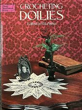 Dover Publications Crocheting Doilies, 1976, 38 vintage crocheted designs