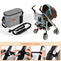 Travel Organizer Baby Stroller Bag Accessories Pram Basket Storage Soild TS