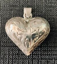 marked 925 Mexico Gr69 Puffed Heart Silver Pendant