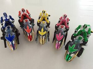 Power Rangers Time Force 5 Vector Cycle And Rangers