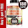 Turmeric Curcumin 1500 mg High Absorption Extra Strength Vegan Capsules 180 Ct