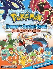 Pokémon Trainer's Sticker Book - From Kanto to Kalos (2015, Paperback)