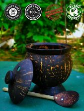 Natural Coconut Shell Bowl With Lid & Spoon 100% Eco Friendly From Sri Lanka