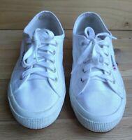 Superga 2750 Cotu Classic Men's Women's White Canvas Trainers Shoes UK 5 EUR 38